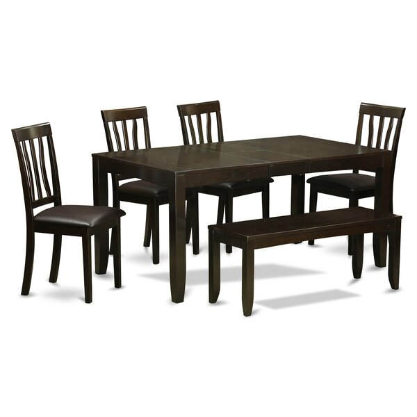 Lockmoor 6 Piece Extendable Solid Wood Dining Set by Red Barrel Studio
