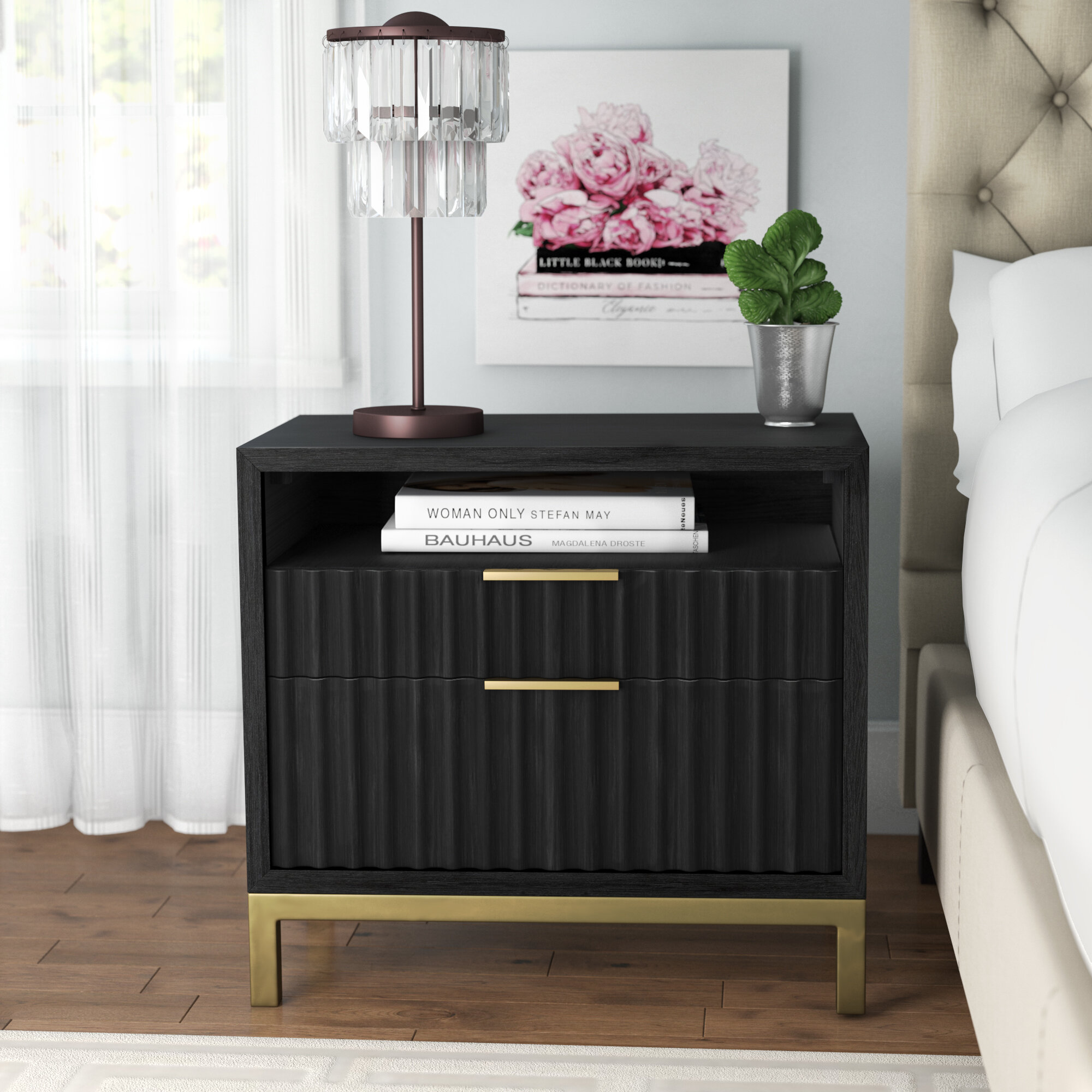 brand new afd8c 9a51c Willa Arlo Interiors Holford 2 Drawer Nightstand & Reviews ...