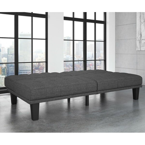 Haysi Futon Lounger Convertible Sofa By Wade Logan.