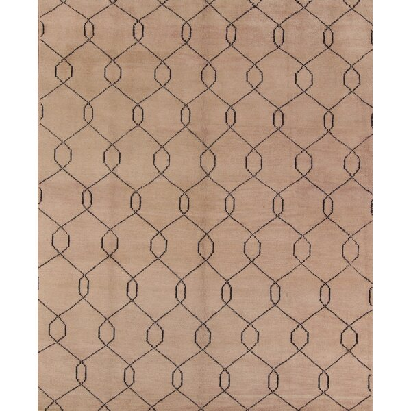 One-of-a-Kind Ayler Oriental Hand-Knotted Wool Brown Area Rug by Ivy Bronx