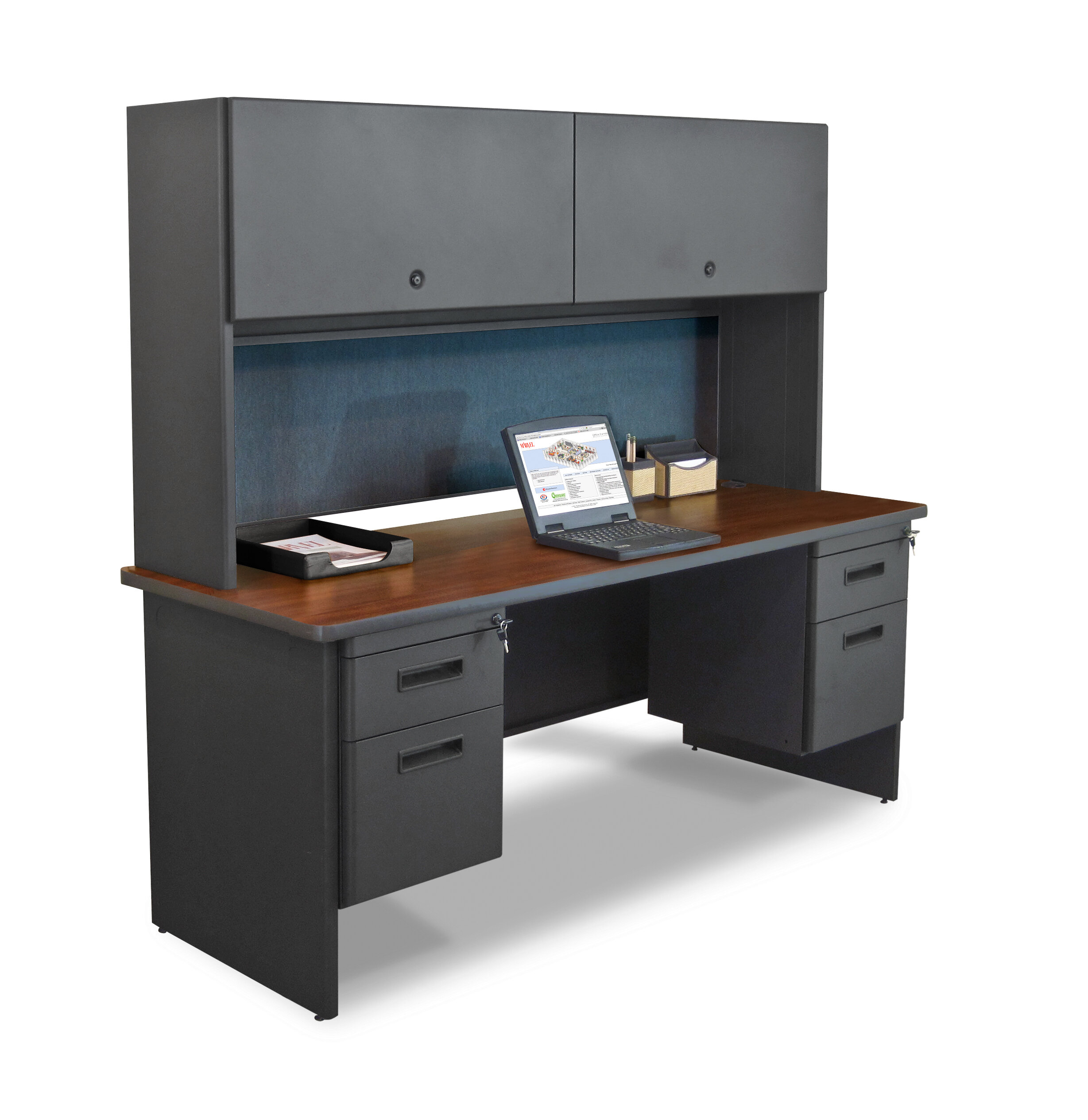 Charmant Marvel Office Furniture Pronto Flipper Door Cabinet And Lock Computer Desk  With Hutch | Wayfair