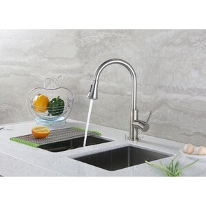 Luxier Single Handle Kitchen Sink Faucet with Pull Down Spray