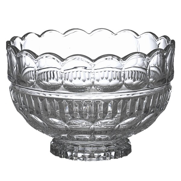 Glorious Deep Crystal Salad Bowl by Circle Glass