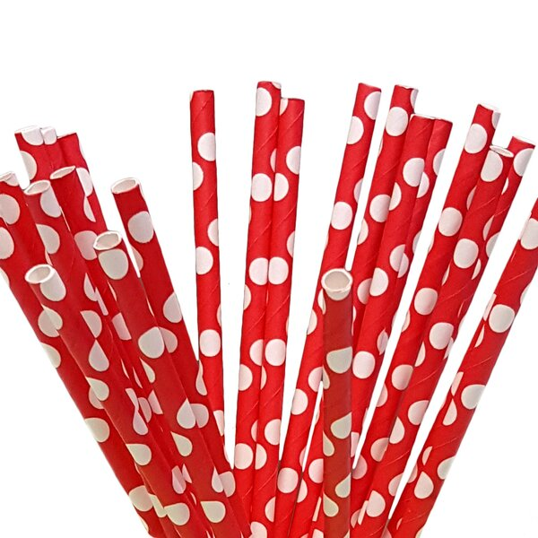 100 Piece Paper Straws (Set of 100) by Beauty Acrylic