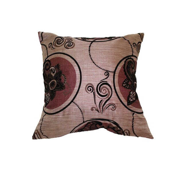 Tivoli Flock Luxurious Vintage Pillow Cover by Violet Linen