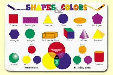Shapes and Colors Placemat (Set of 4) by Painless Learning Placemats