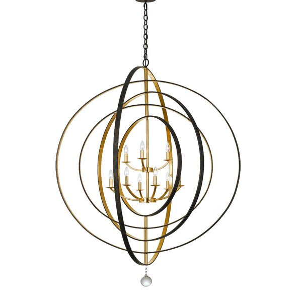 Fitzhugh 9-Light Candle Style Globe Chandelier By Willa Arlo Interiors