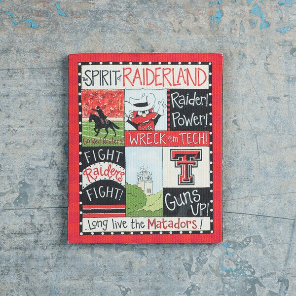 Texas Tech Spirit Magnet Vintage Advertisement on Canvas by Glory Haus