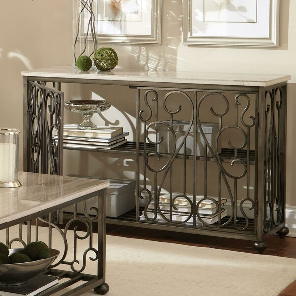 Console Table with Magazine Rack by Standard Furniture Standard Furniture
