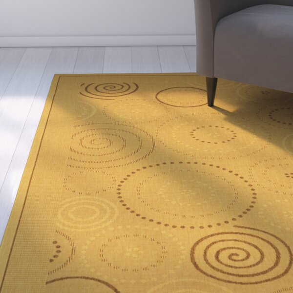 Mullen Geometric Circles Outdoor Rug by Ebern Designs