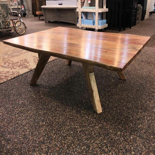 Signe Live Edge Wooden Coffee Table by Millwood Pines