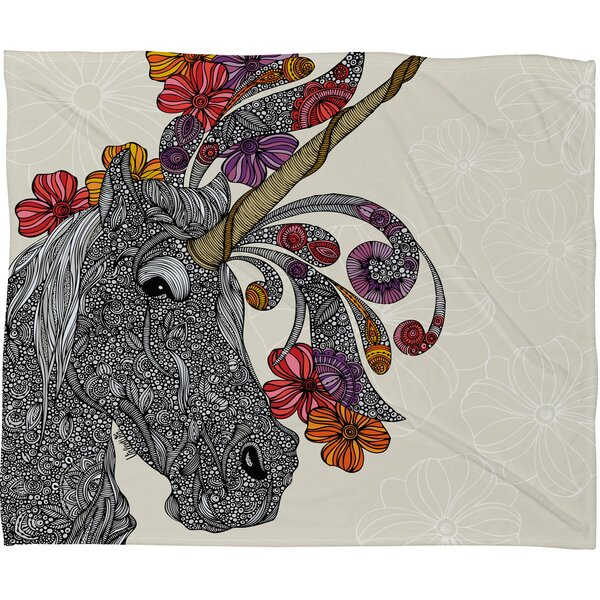 Valentina Ramos Unicornucopia Throw Blanket by Deny Designs