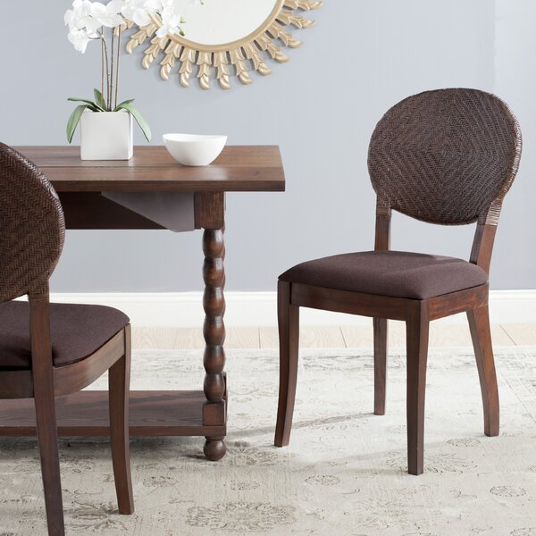 Bungalo Upholstered Side Chair In Mahogany (Set Of 2) By Bay Isle Home
