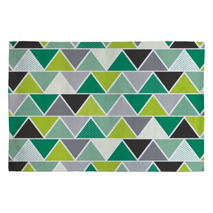 Heather Dutton Emerald Triangulum Green Geometric Area Rug ByDeny Designs