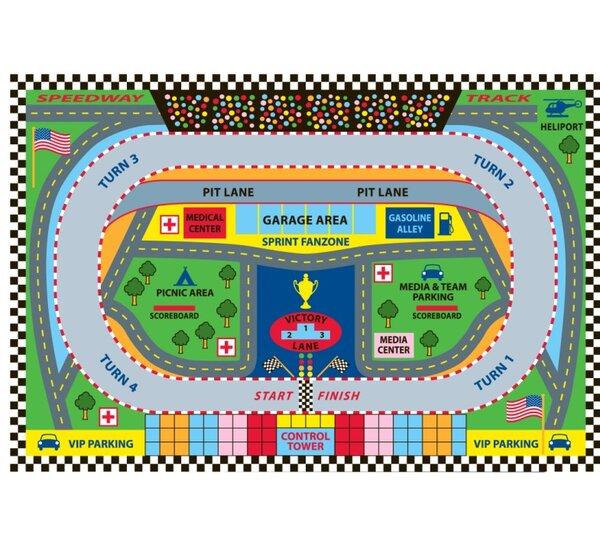 Fun Time Speedway Kids Rug by Fun Rugs