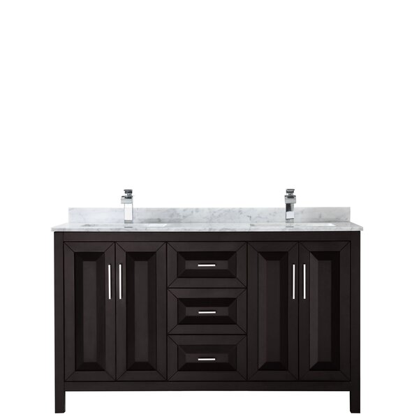 Daria 60 Double Bathroom Vanity Set by Wyndham Collection