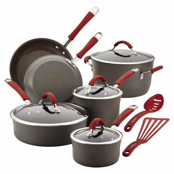 12-Piece Anodized Aluminum Cookware Set by Rachael Ray