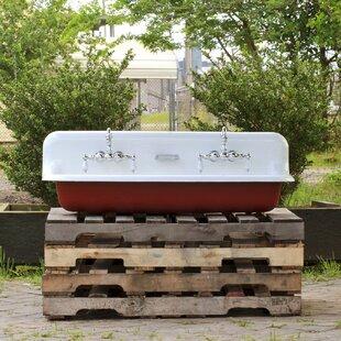 Bargain Mcgrane High Back Incarnadine 17 Wall Mount Bathroom Sink with Faucet ByGracie Oaks