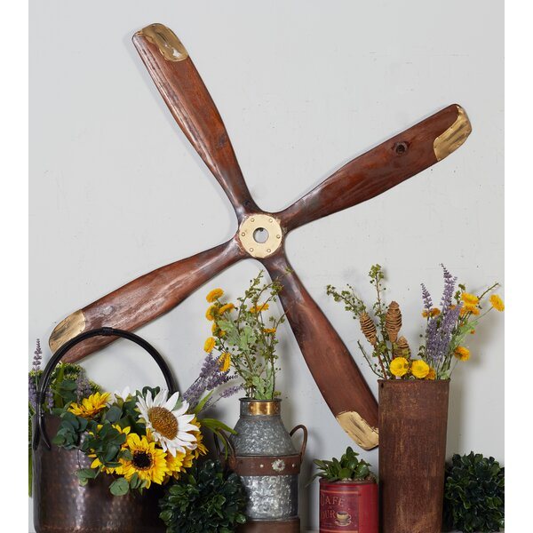 Wood Airplane Propeller Sculpture by Cole & Grey
