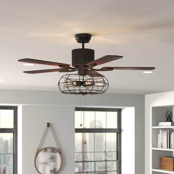 House Of Hampton 52 Pitchford 5 Blade Ceiling Fan Light Kit Included Wayfair