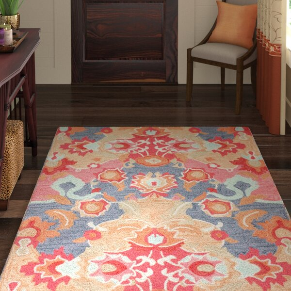 Maastricht Blue/Red Area Rug by World Menagerie