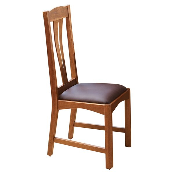 Lewistown Genuine Leather Upholstered Dining Chair (Set of 2) by Loon Peak