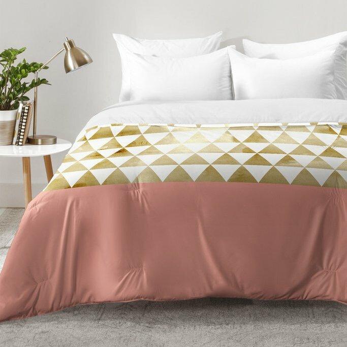 Mistana Nehemiah Triangles Comforter