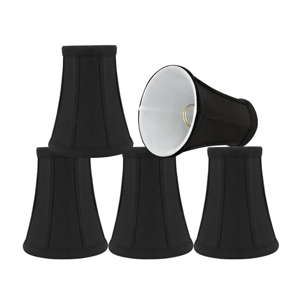 Modern Clip On 4'' Fabric Bell Lamp Shade (Set of 5) by Mercer41