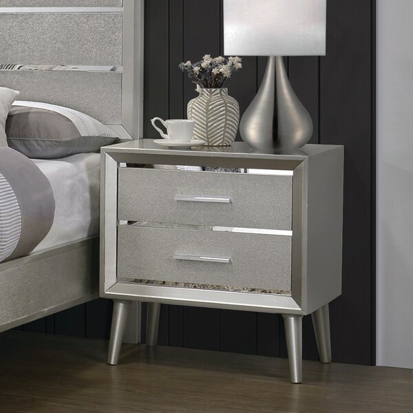 Windle 2 Drawer Nightstand by House of Hampton