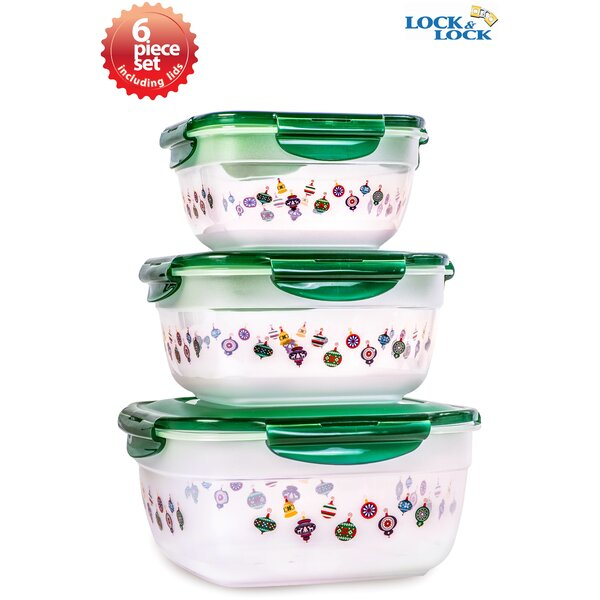 Holiday Ornament 3 Food Storage Set by Lock & Lock