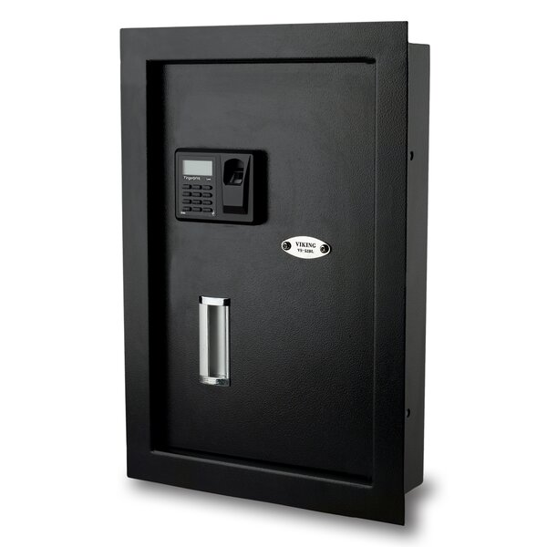 Biometric Lock Commercial Wall Safe by Viking Security Safe