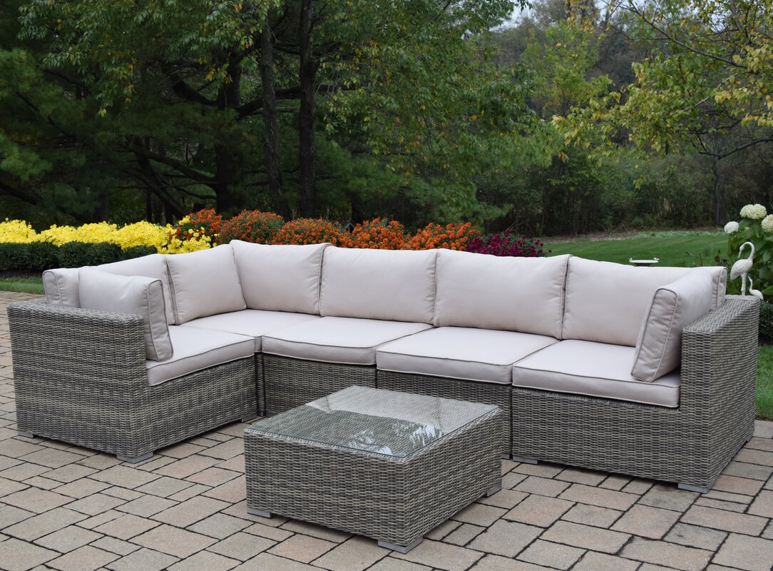 Borneo 6 Piece Sectional Set With Cushions By Oakland