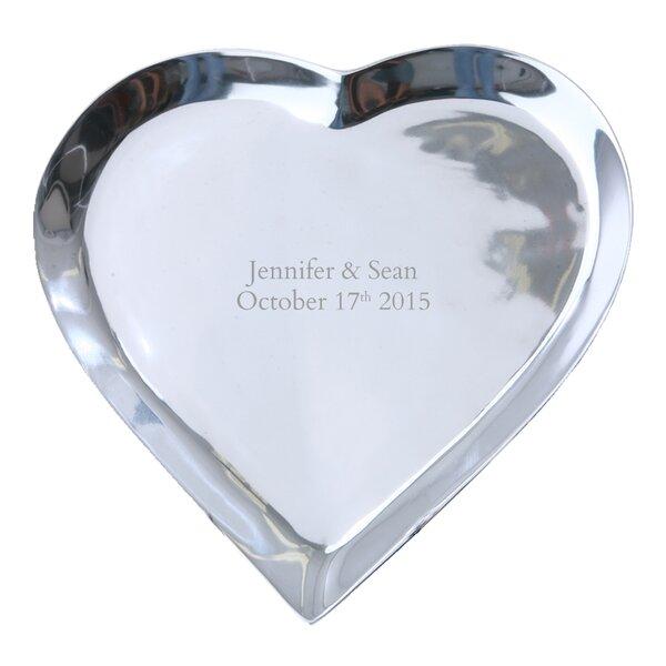 Personalized Autograph Pewter Heart Shape Platter by Signature Keepsakes