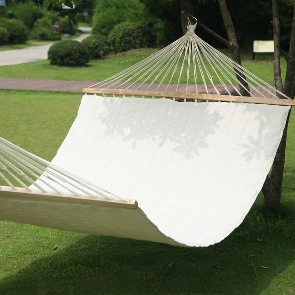 Hanging Suspended Double Tree Hammock by Adeco Trading