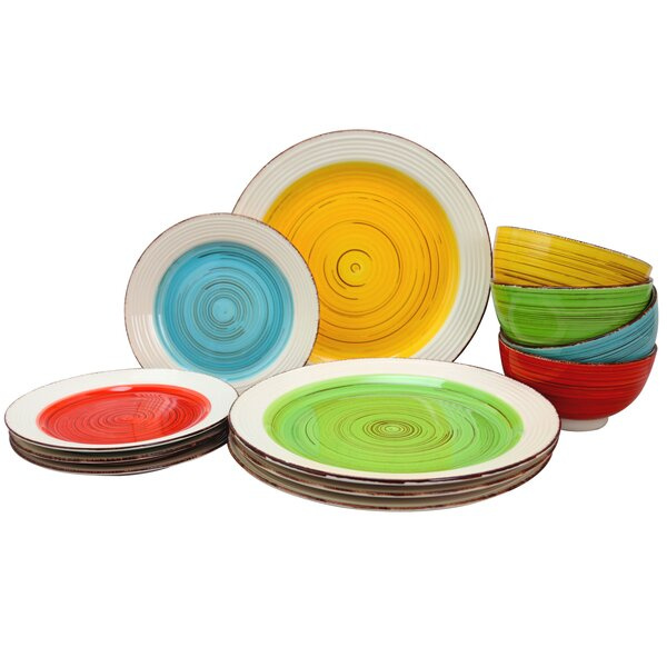 Rojas 12 Piece Dinnerware Set, Service for 4 by World Menagerie