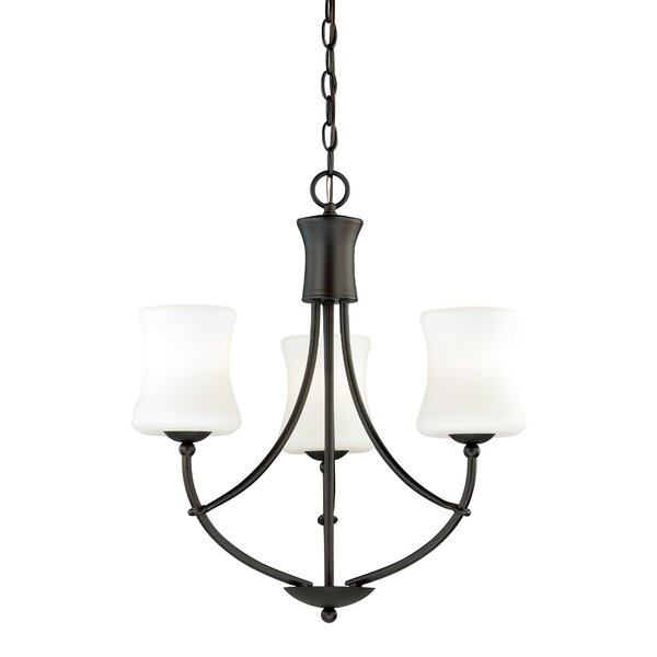 Porcaro 3-Light Shaded Empire Chandelier By Loon Peak