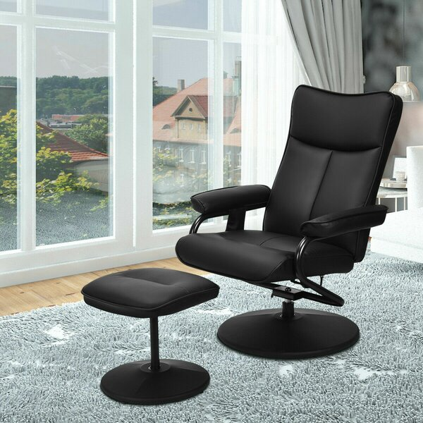 Reclining Adjustable Width Massage Chair With Ottoman By Latitude Run