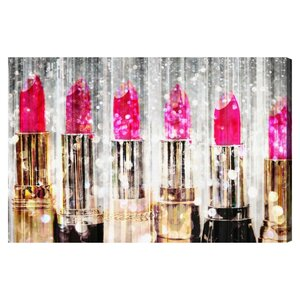 'Lipstick Collection' Graphic Art on Wrapped Canvas by Willa Arlo Interiors