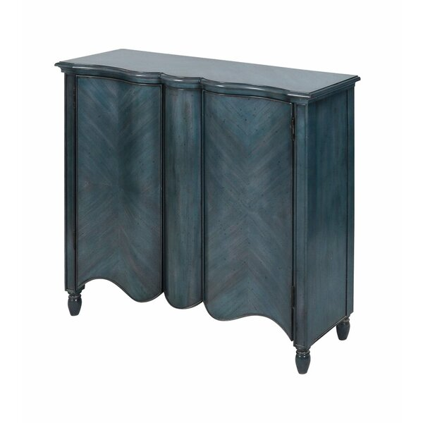 Tillamook 2-door Cabinet In Navy by World Menagerie World Menagerie