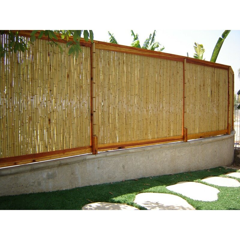 Backyard X Scapes 8 Ft W Rolled Bamboo Fence Panel Reviews