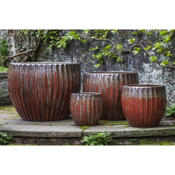 Amado 4 Pieces Terra Cotta Pot Planter Set by Bloomsbury Market