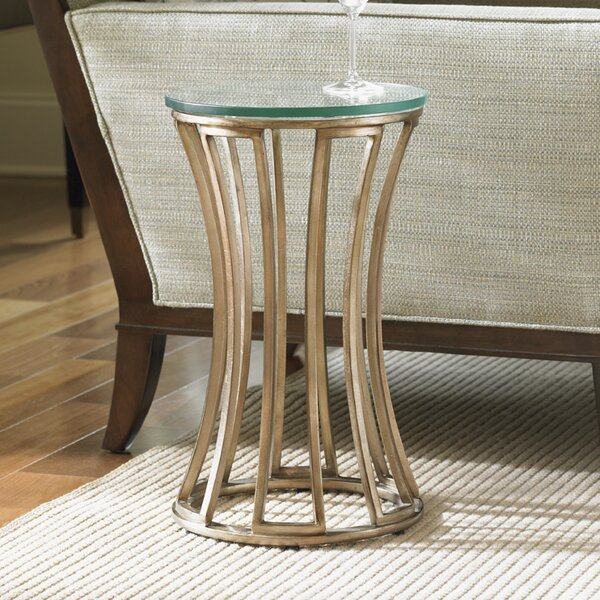 Tower Place Glass Top Pedestal End Table By Lexington