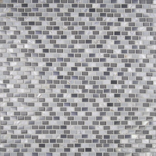 Keshi 12 x 12 Glass/Metal Mosaic Tile in White by MSI