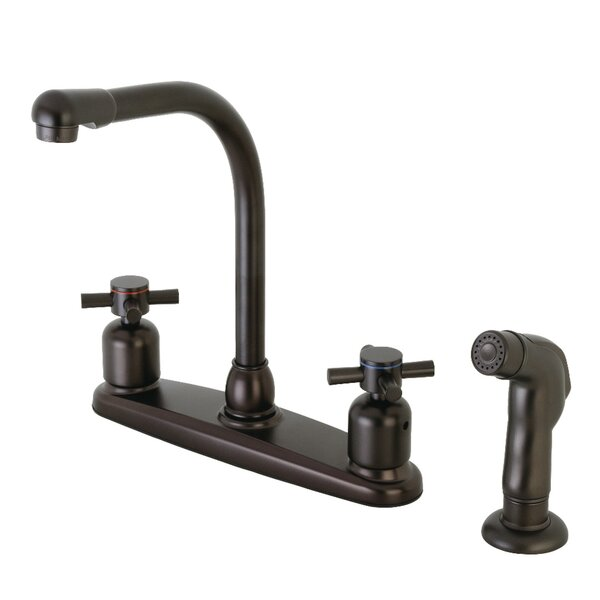 Concord Double Handle Kitchen Faucet with Side Spray by Kingston Brass Kingston Brass