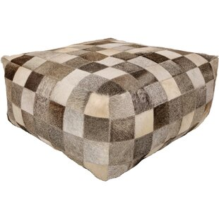 Aranda Leather Pouf By Foundry Select