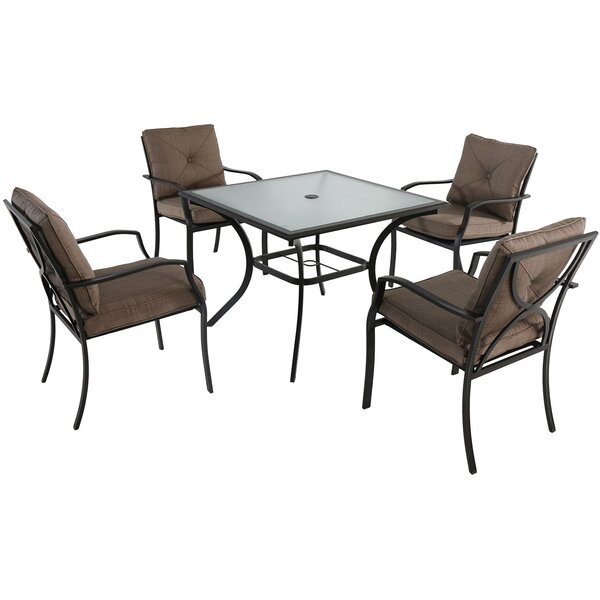 LeRay 5 Piece Dining Set with Cushions by Winston Porter