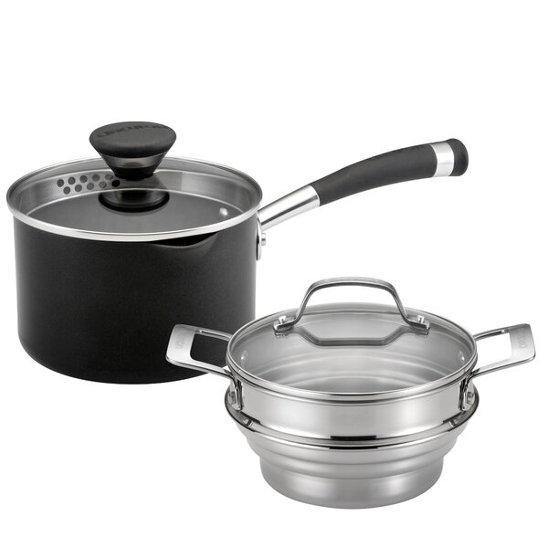 Acclaim Non-Stick 2-Quart Straining Steamer Set by Circulon
