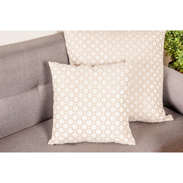 Abrego Modern Geometric Pattern Pillow Cover by Mercer41