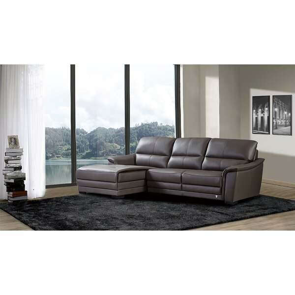 Shrum Leather Sectional by Brayden Studio