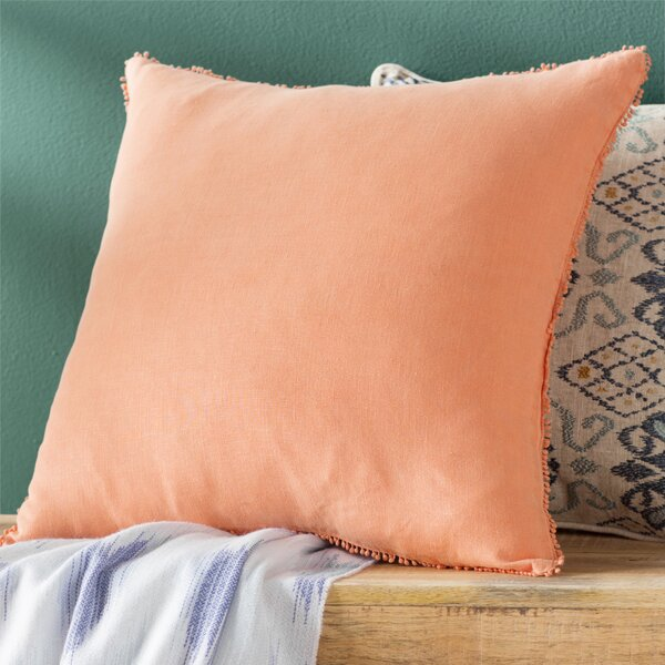 Russ Linen Throw Pillow by Viv + Rae